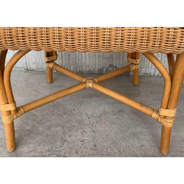 Midcentury Set of Six Bamboo and Rattan Dining Room Armchairs For Sale - Image 4 of 13