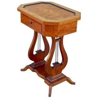 1920s Art Deco Biedermeier Revival Lyre Table For Sale