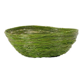Gaetano Pesce Green Resin Spaghetti Bowl for Fish Design For Sale