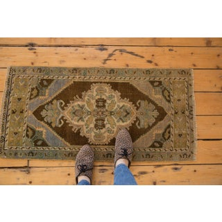 "Vintage Distressed Oushak Rug Mat Runner - 1'8"" X 3'6"" Preview"