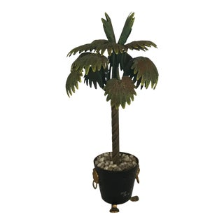 Small Tole Palm Tree For Sale