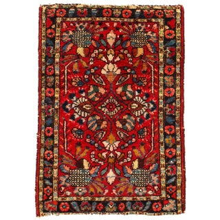 1950s Vintage Persian Lilian Rug - 1′11″ × 2′9″ For Sale