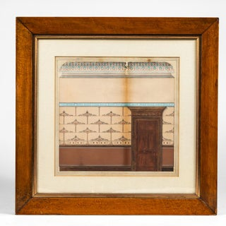 Late 19th Century Architectural Watercolor of London Apartment Building For Sale