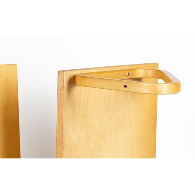Wood 1970s Alvar Aalto Shelves - a Pair For Sale - Image 7 of 10