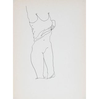 Rip Matteson Figure Undressing in Ink 1989
