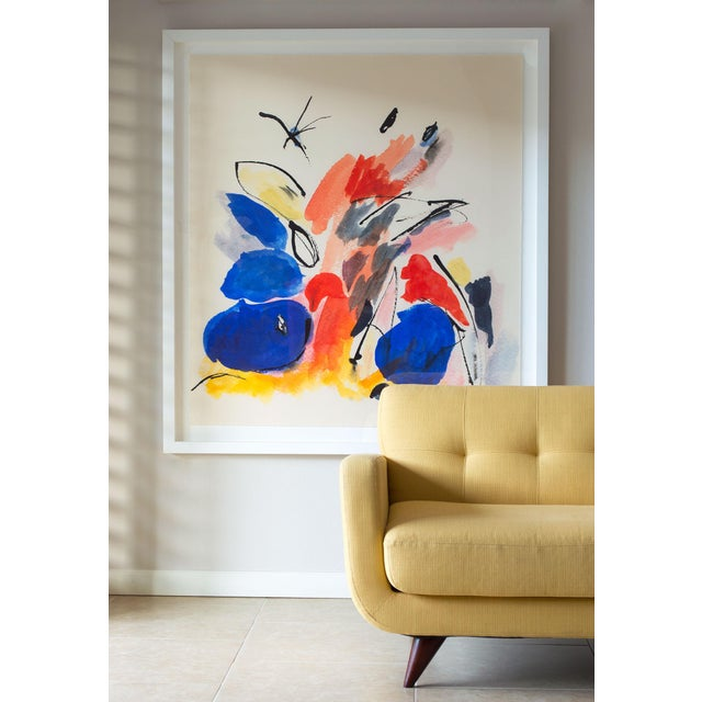 """Not Yet Made - Made To Order """"Blue Notes No. 1"""", Mark Frohman for Dde, Abstract Primary Colors Painting For Sale - Image 5 of 8"""