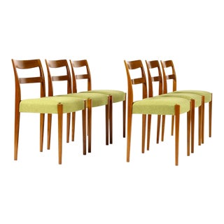 Mid Century Teak Nils Jonsson for Hugo Troeds Garmi Dining Chairs- Set of 6 For Sale