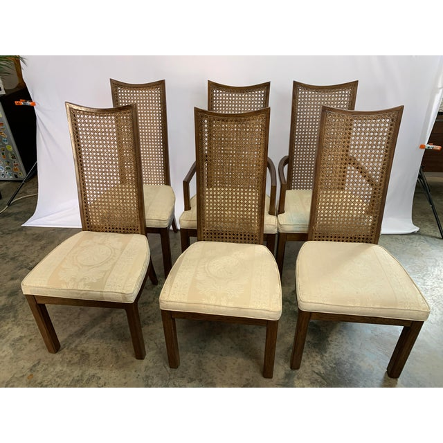 American of Martinsville Baughman Style Mid-Century Modern American of Martinsville Dining Table and Chairs -- Set of 7 For Sale - Image 4 of 13