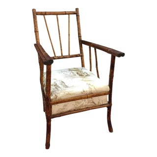 Antique English Victorian Brighton Bamboo Chair For Sale