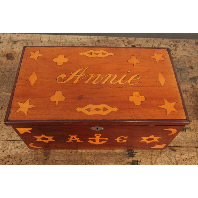 Antique Inlaid Sailor Box For Sale In Los Angeles - Image 6 of 6