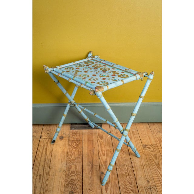 Antique Painted Tray Table For Sale In Houston - Image 6 of 13