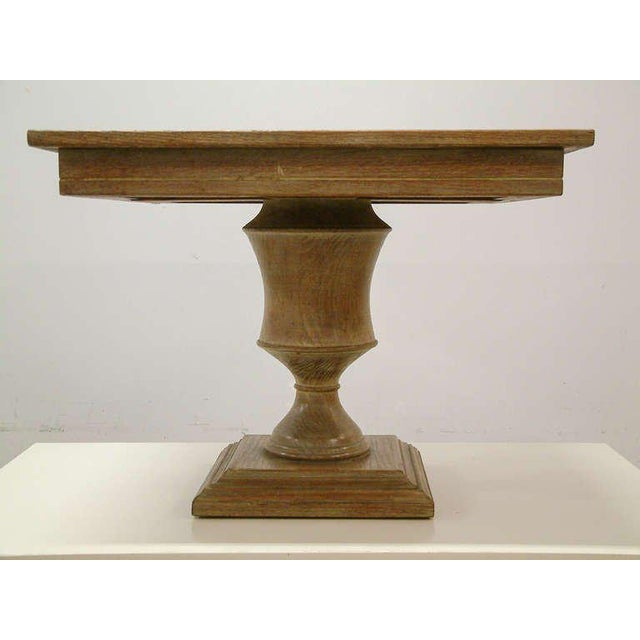 Custom Cerused Oak, Brass and Marble End Tables - A Pair For Sale In Richmond - Image 6 of 8