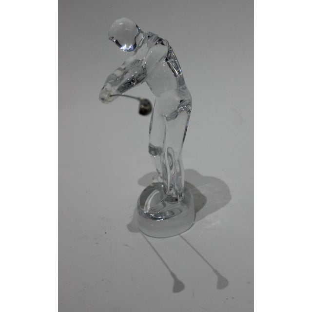 Baccarat Crystal Golfer Figurine from a Palm Beach estate
