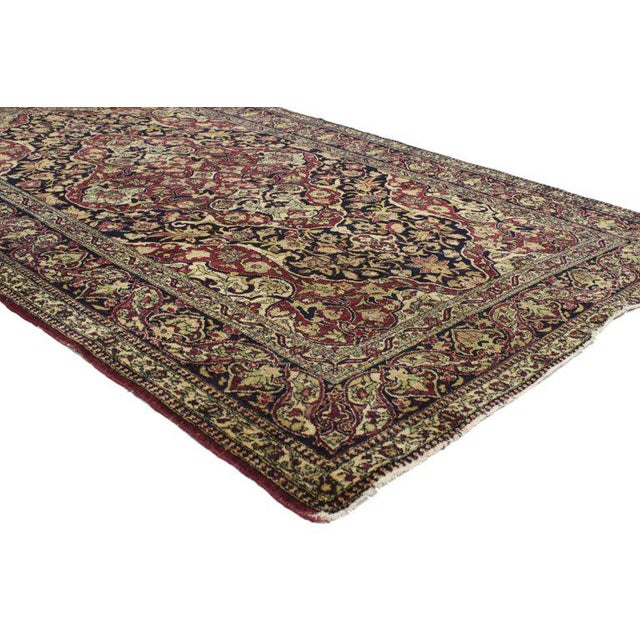 Contemporary Antique Persian Kerman Rug with Traditional Style, Antique Kirman Persian Rug For Sale - Image 3 of 5