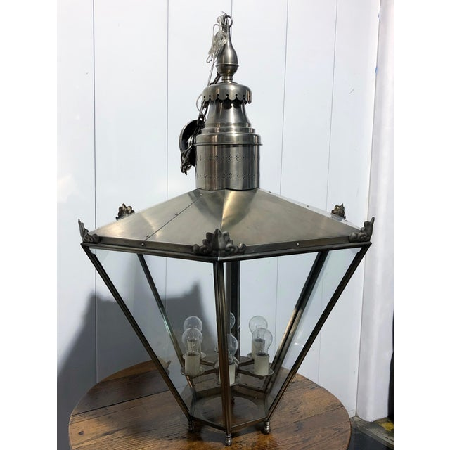 Ann Morris Groves Lantern in Oxidized Brushed Nickel Finish For Sale - Image 13 of 13