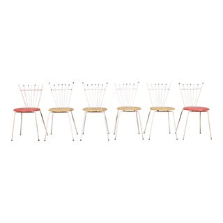 Mid-Century Modern Outdoor Dining Chairs by Reilly Wolff, Set of Six For Sale