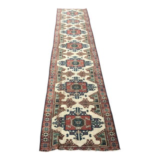 Turkish Handmade Floor Hallway Runner- 2′5″ × 12′6″ For Sale
