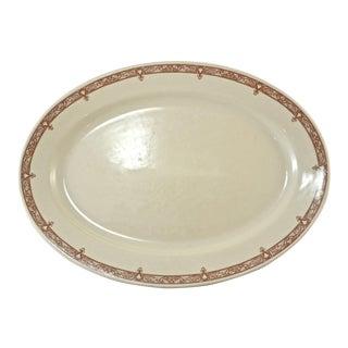 Chestnut Floral Border Platter For Sale