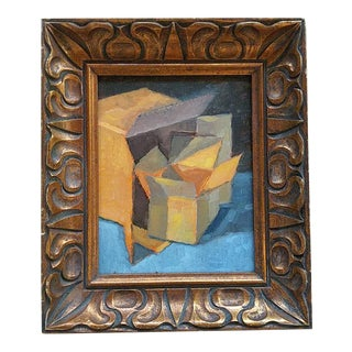 Johann Grobler Abstract Shapes Framed Painting For Sale