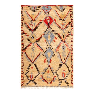 "Bohemian Hand-Knotted Area Rug 5' 1"" x 8' 1"" For Sale"