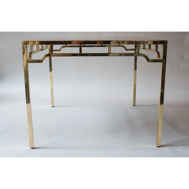 """William """" Billy """" Haines 1950s USA William """"Billy"""" Haines Capiz Shell Game Table and Chairs For Sale - Image 4 of 11"""