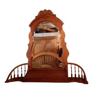 Lexington Victorian Sampler Spindle Mirror For Sale