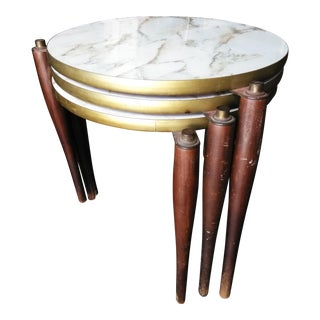 Mid Century Modern Stacking Stools/ Tables - Set of 3 For Sale
