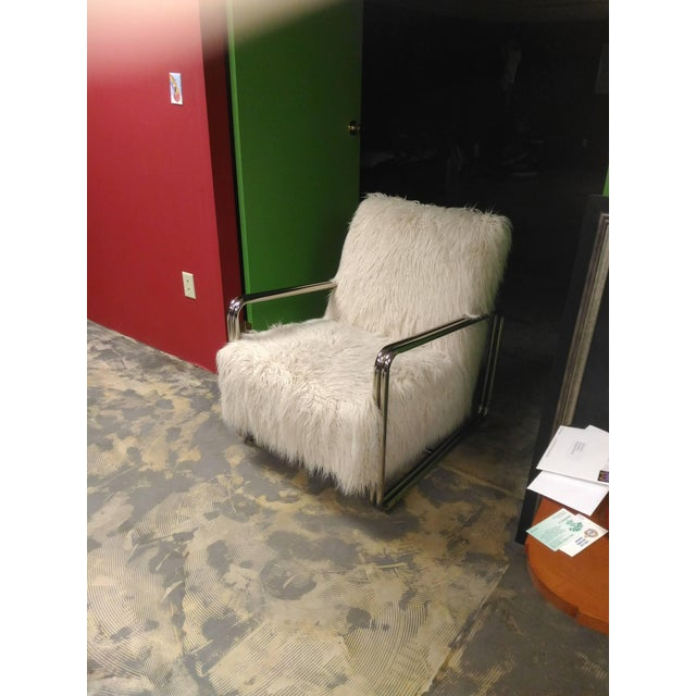2010s Faux Fur Chair For Sale - Image 5 of 8