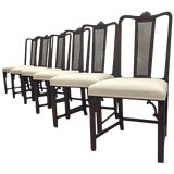 Image of 6 Dining Chairs by Axel Einar Hjorth for Nk, Circa 1930s For Sale