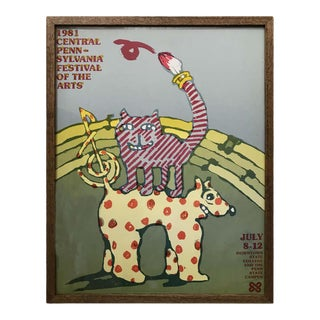 Graphic Poster for the Pensylvania Festival of the Arts by Lanny Sommese For Sale