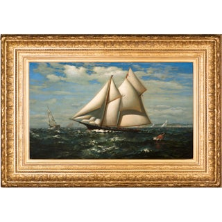 Vintage The Yacht Water Witch Painting By James Gale Tyler For Sale