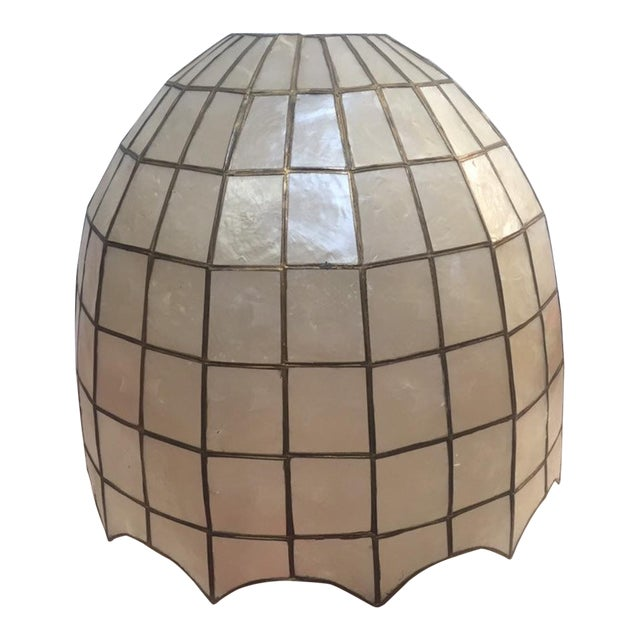 Vintage Capiz Shell Accent Lamp Shades For Sale