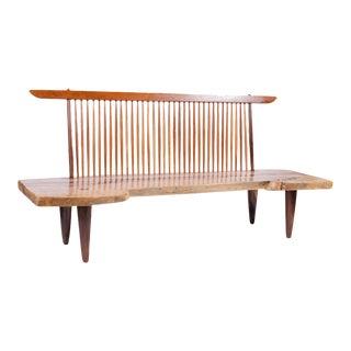 Early 20th Century Walnut Slab Freeform Oversized Bench