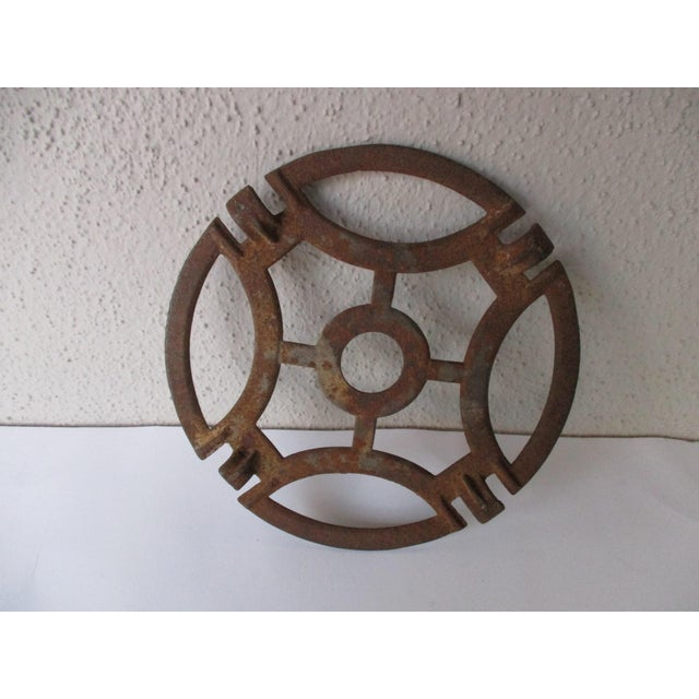 Abstract Modern Cast Iron Garden Decoration or Trivet - Image 6 of 6