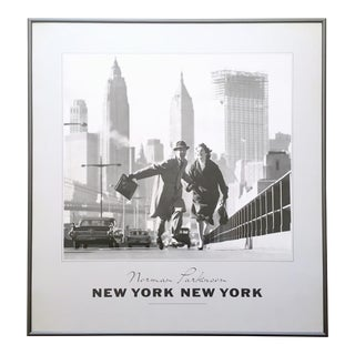 "Norman Parkinson Vintage 1980's Lithograph Print Framed Iconic Photo Poster "" New York New York "" 1959 For Sale"