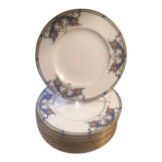Royal Worcester Porcelain Dinner Plates - Set of 12 For Sale