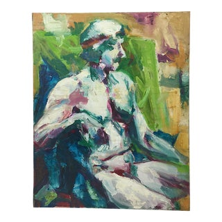 """O'Leary"" Greco-Roman Figurative Oil For Sale"