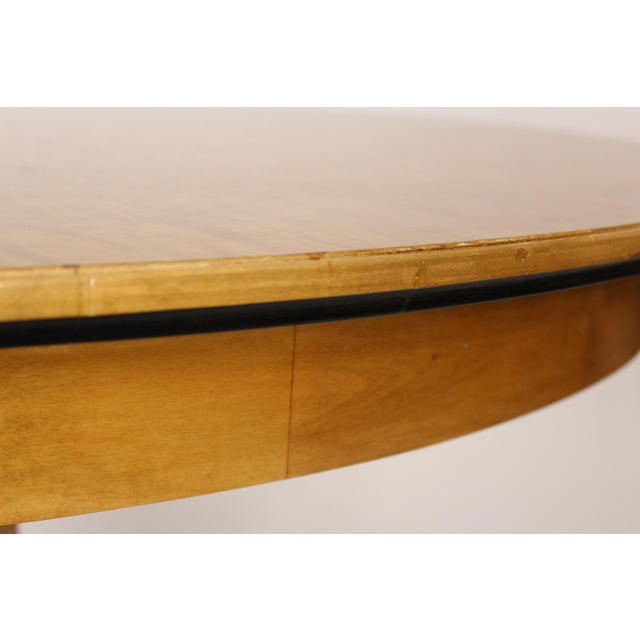 1950s Biedermeier Style Oval Occasional / Center Table For Sale - Image 5 of 11