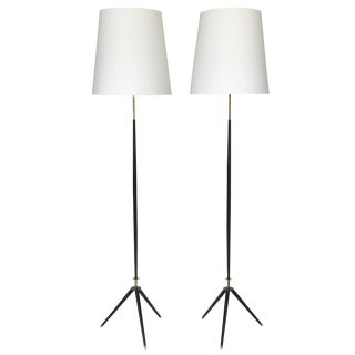 Pair of Svend Aage Holm Sorensen Tripod Floor Lamps For Sale