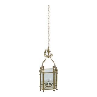 Virginia Metal Crafters Vintage Brass & Beveled Glass Chandelier