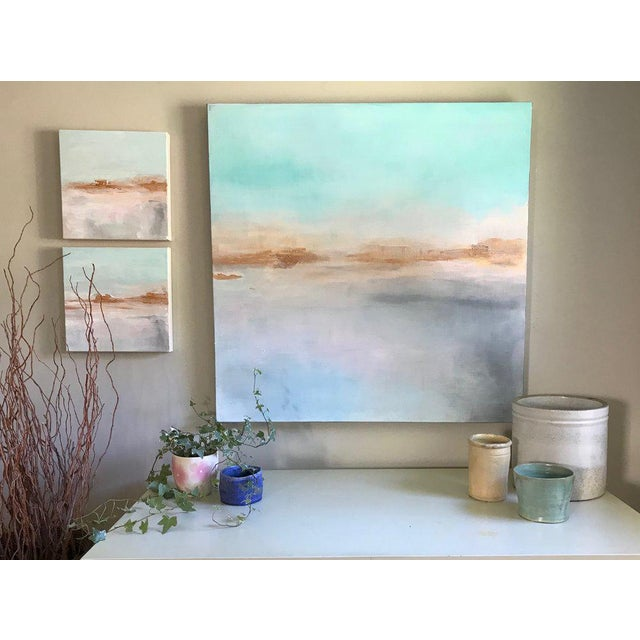 Abstract Dolores Tema, Mist Rising Painting, 2018 For Sale - Image 3 of 6
