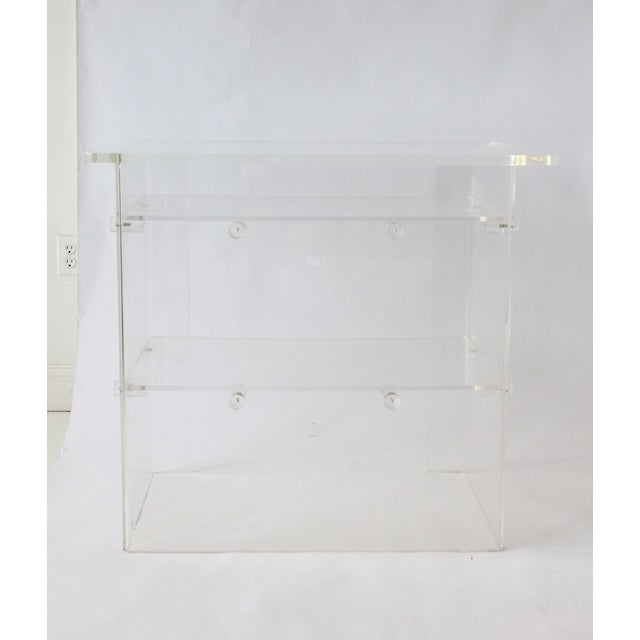 Vintage Lucite Media Console / Bar - Image 2 of 8