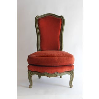 Louis XV Style Upholstered Boudoir Chair Preview