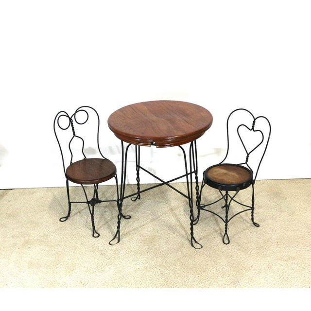 1940s Ice Cream Parlor Childs Dining Set - Image 2 of 6