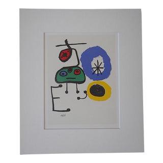 Vintage Joan Miro Abstract Lithograph