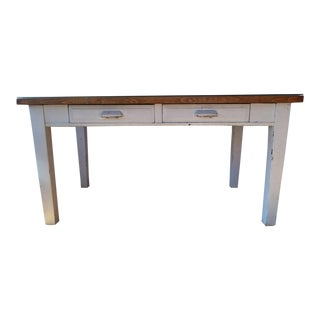 Two-Drawer Wood Writing Desk