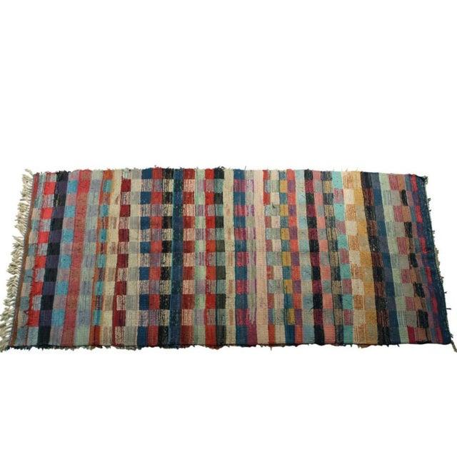 """Vintage Boucherouite Carpet - 9'2"""" X 4'1"""" - Image 3 of 4"""