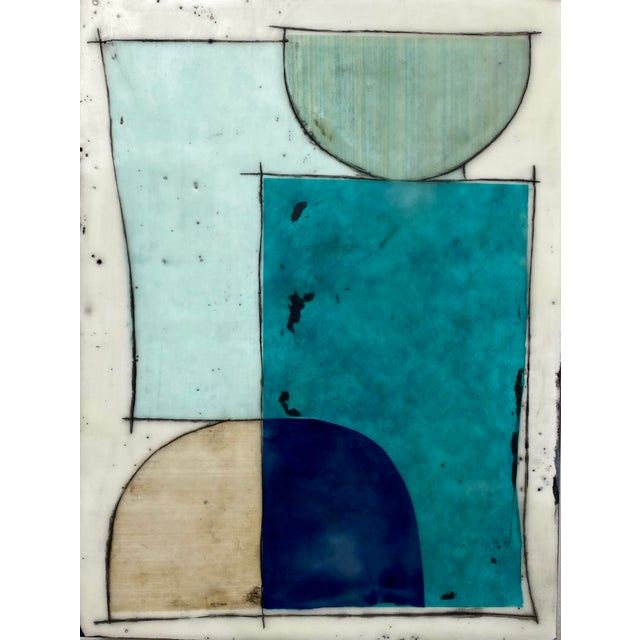 """""""Notes to My Younger Self"""" 9 Panels Encaustic Collage Installation by Gina Cochran For Sale - Image 12 of 13"""