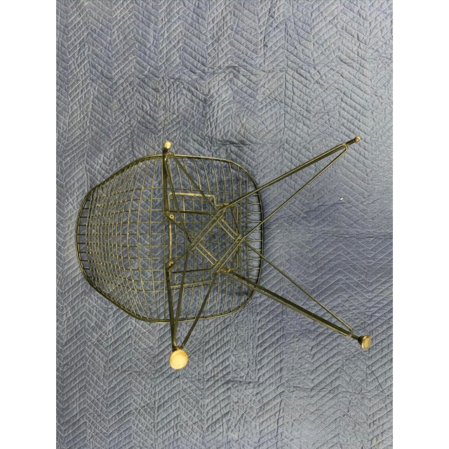 Charles Eames Wire Eiffel DKR Chair in Black Coated Metal For Sale - Image 9 of 10