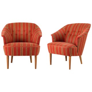 "Pair of Carl Malmsten ""Lillasyster"" Lounge Chair For Sale"